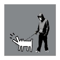 choose your weapon (grey) by banksy