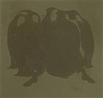 untitled (green penguins) by wang xingwei