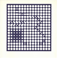 lot 305: untitled by victor vasarely