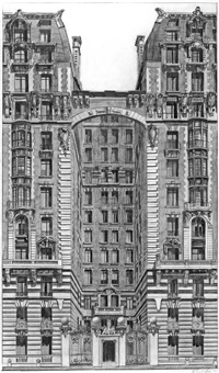 building entrance, new york by richard haas