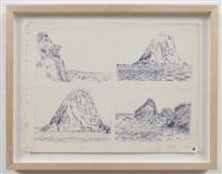 untitled (4 ponza landscapes) by paul thek