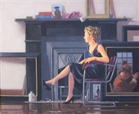 rachel in the studio by jack vettriano