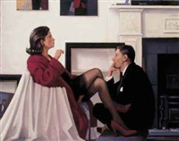 models in the studio by jack vettriano