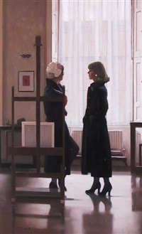 models in the studio ii by jack vettriano