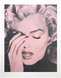 marilyn crying (powder-pink) by russell young