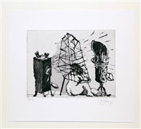 give & take series, suite of eight etchings by william kentridge