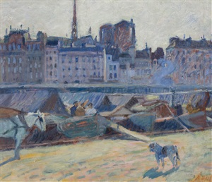 la cité, vue du quai de l'hôtel de ville by raoul dufy