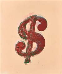 dollar sign ($) by andy warhol