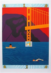 golden gate bridge by joan brown