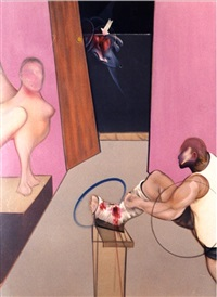 oedipus and the sphinx after ingres by francis bacon