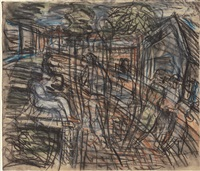 a street in willesden no. 2 by leon kossoff