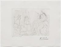 raphael et la fornarina x: le pape a fait apporter son fauteuil, from the 347 series by pablo picasso