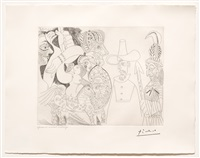 television: quaker, peau-rouge, ecuyere, from the 347 series by pablo picasso