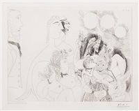 la fete de la patronne, fleurs et baisers degas s'amuse, from the 156 series by pablo picasso