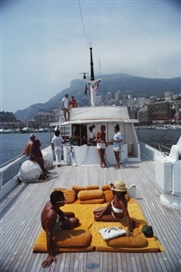 scotti's yacht by slim aarons