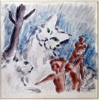 chats et personnages by francis picabia