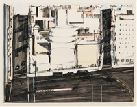 urban square by wayne thiebaud