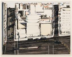 urban square by wayne thiebaud