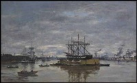 bordeaux, le port by eugène boudin