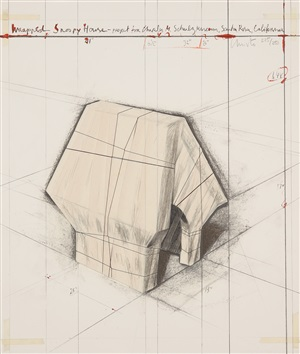 """wrapped snoopy house"" projekt für das charles m. schulz museum, santa rosa, kalifornien by christo and jeanne-claude"