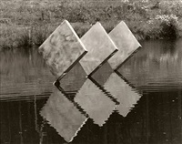 three squares vertical diagonal ii by george rickey