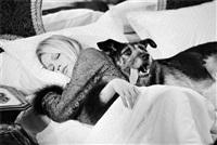 brigitte bardot with dog by terry o'neill