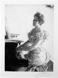 at the piano by anders zorn
