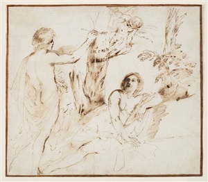 angélique et médor by giovanni francesco barbieri (see guercino)