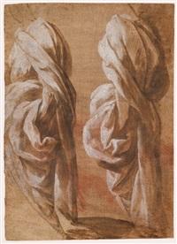 deux études de drapés (pour une figure d'apôtre ?) by domenico beccafumi