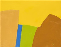 untitled, 2015, oil on canvas. courtesy of the artist and galerie lelong. by etel adnan