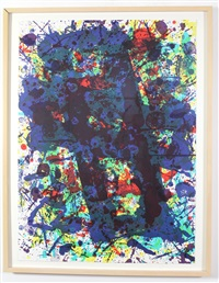 untitled (from papierski portfolio) by sam francis