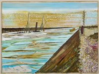 evening on the bunk of a canal (ss chatham sunk, suez 1905) by billy childish