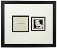 donald cann framed envelope and invite by keith haring
