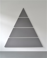divided triangle painting (4 parts) by alan charlton