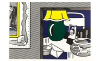 two paintings series: green lamp by roy lichtenstein