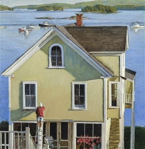 house painter, stonington by peter poskas iii