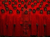 red no.1 by liu bolin