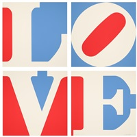 four panel love by robert indiana