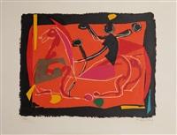 chevaux et cavaliers iii (pferde und reiter iii) by marino marini