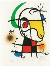 le vent parmi les roseaux (william butler yeats) (der wind im schilf) (the wind among the reeds), by joan miró