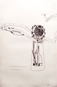 flowers fs ii.102 (black and white) by andy warhol