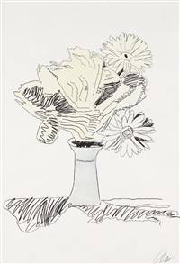 flowers fs ii.113 (hand colored) by andy warhol