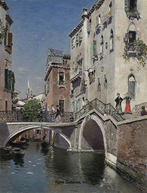 a summer's afternoon, venice by martin rico y ortega