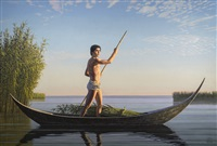 the cane gatherer (qanu) by david ligare