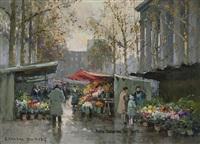 marche aux fleurs by edouard léon cortès