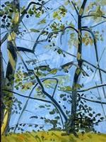 sunlight on trees by lois dodd