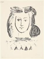buste de jeune fille (mädchenbüste) by pablo picasso