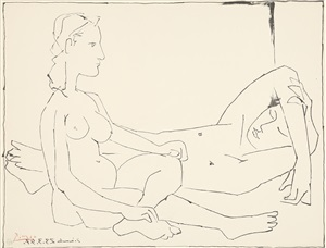 couple (paar) by pablo picasso