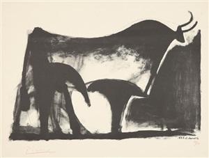 le taureau noir (der schwarze stier) by pablo picasso