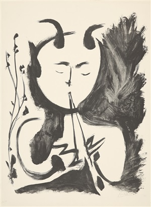 faune musicien no. 4 (musizierender faun nr. 4) by pablo picasso